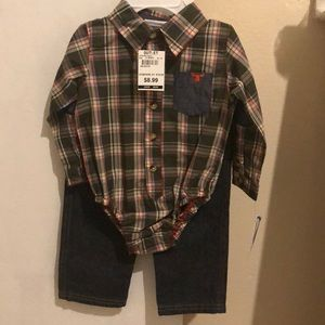 Little Boys shirt and pants set